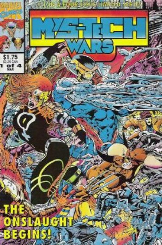 Cover of Mys-Tech Wars (1993 Ltd) #1. One of 250,000 Vintage American Comics on sale from Krypton!