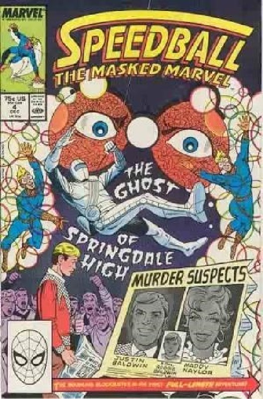 Cover of Speedball (Vol 1) The Masked Marvel #4. One of 250,000 Vintage American Comics on sale from Krypton!
