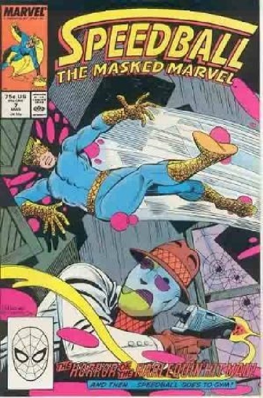 Cover of Speedball (Vol 1) The Masked Marvel #7. One of 250,000 Vintage American Comics on sale from Krypton!
