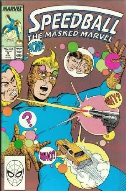 Cover of Speedball (Vol 1) The Masked Marvel #9. One of 250,000 Vintage American Comics on sale from Krypton!