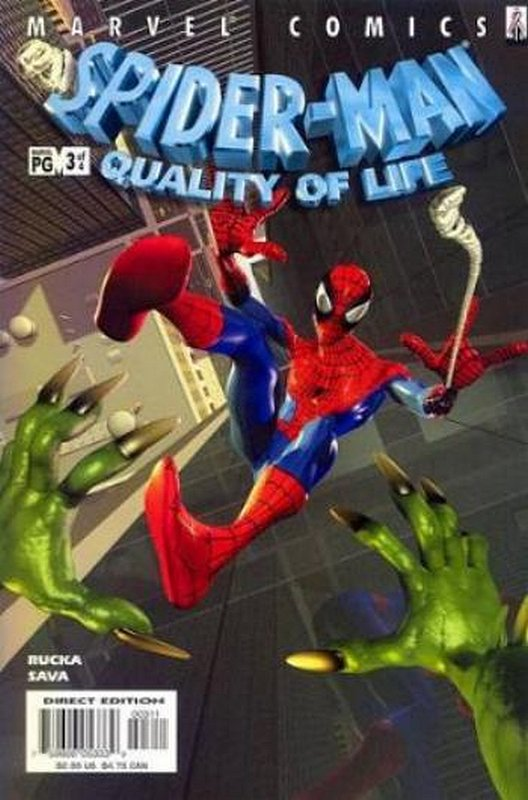 Cover of Spider-Man: Quality of Life (2002 Ltd) #3. One of 250,000 Vintage American Comics on sale from Krypton!