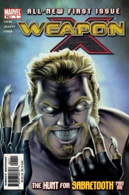 Cover of Weapon X (Vol 1) #1. One of 250,000 Vintage American Comics on sale from Krypton!