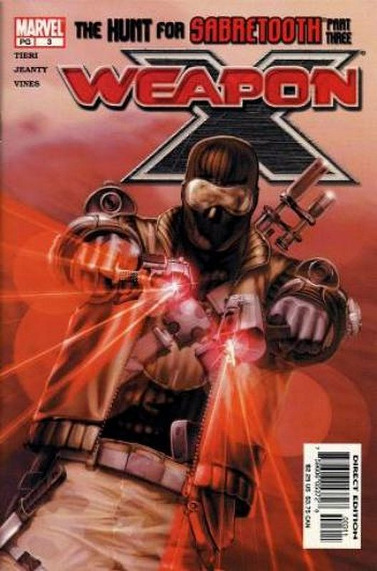 Cover of Weapon X (Vol 1) #3. One of 250,000 Vintage American Comics on sale from Krypton!