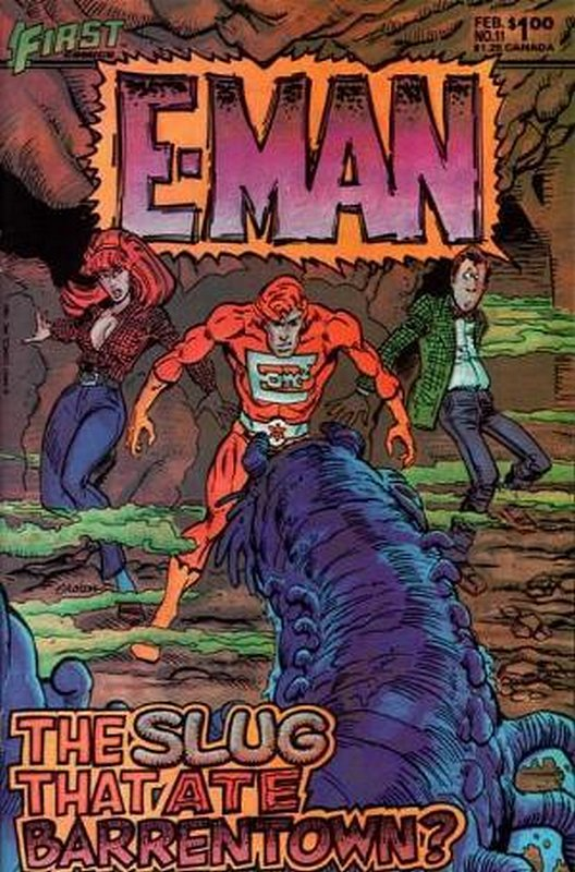 Cover of E-Man (Vol 2) #11. One of 250,000 Vintage American Comics on sale from Krypton!