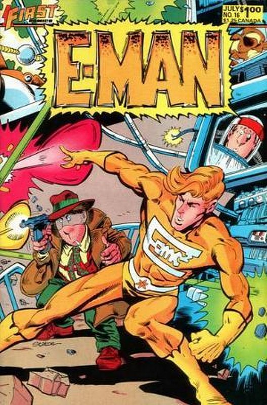 Cover of E-Man (Vol 2) #16. One of 250,000 Vintage American Comics on sale from Krypton!
