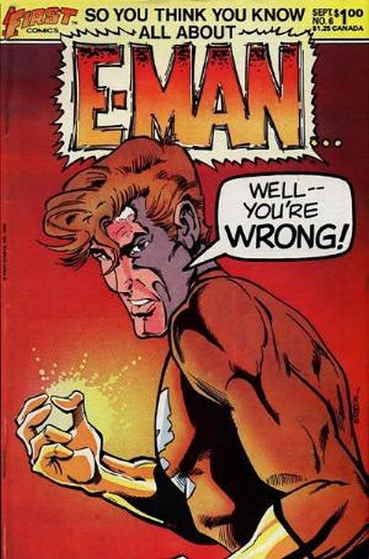 Cover of E-Man (Vol 2) #6. One of 250,000 Vintage American Comics on sale from Krypton!