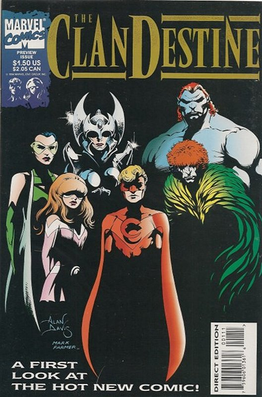 Cover of Clandestine Preview (1994 One Shot) #1. One of 250,000 Vintage American Comics on sale from Krypton!