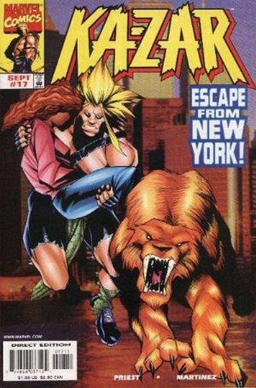 Cover of Ka-Zar (Vol 4) #17. One of 250,000 Vintage American Comics on sale from Krypton!
