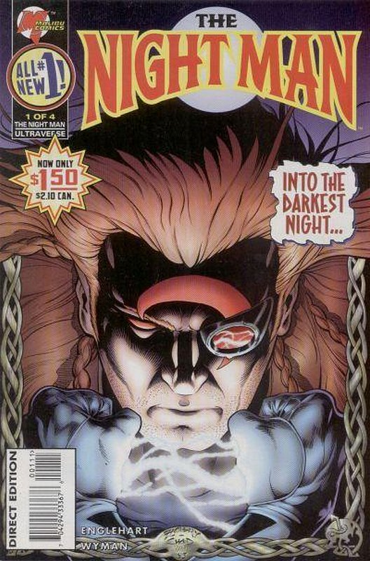 Cover of Night Man (1995 Ltd) #1. One of 250,000 Vintage American Comics on sale from Krypton!