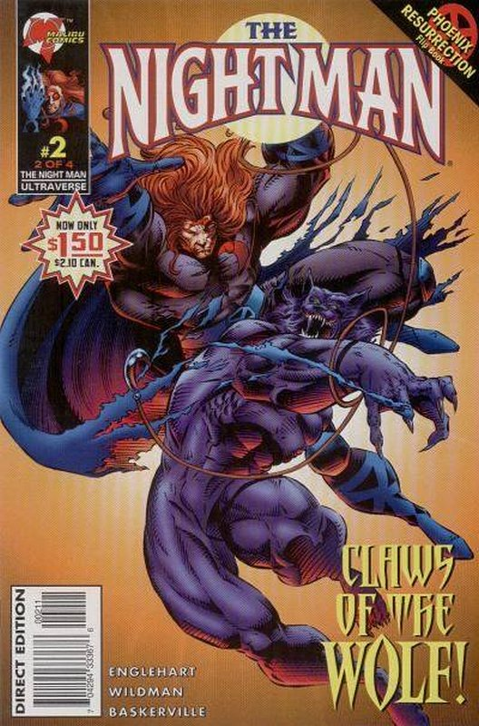 Cover of Night Man (1995 Ltd) #2. One of 250,000 Vintage American Comics on sale from Krypton!