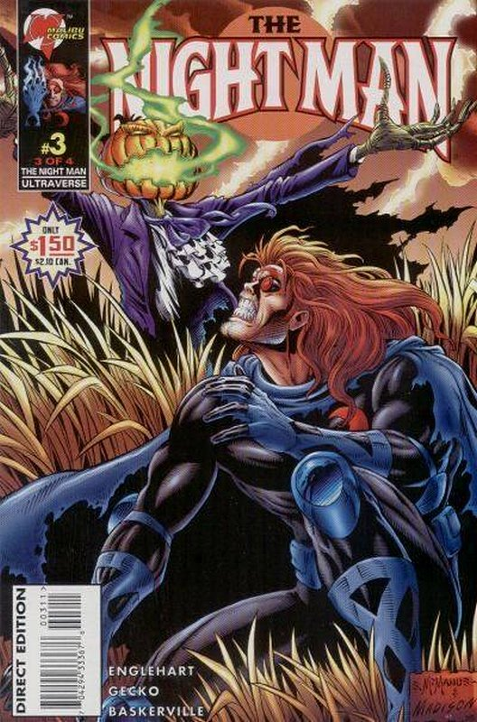 Cover of Night Man (1995 Ltd) #3. One of 250,000 Vintage American Comics on sale from Krypton!