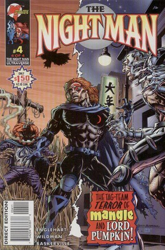 Cover of Night Man (1995 Ltd) #4. One of 250,000 Vintage American Comics on sale from Krypton!