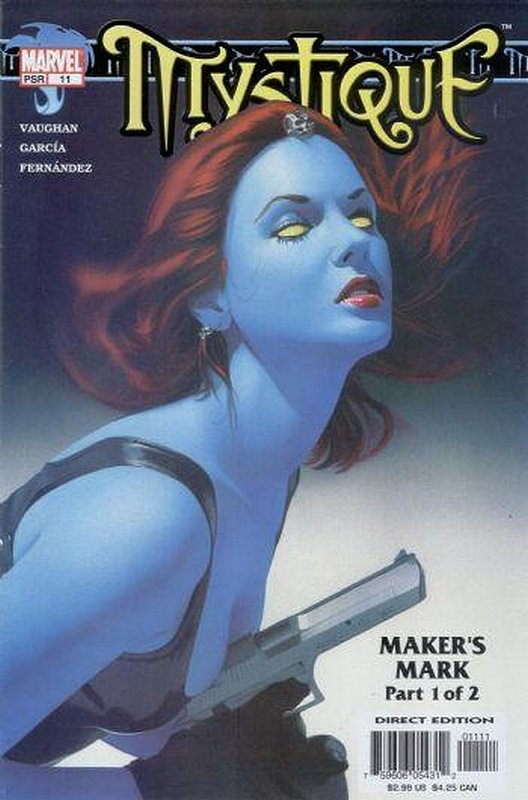 Cover of Mystique (Vol 1) #11. One of 250,000 Vintage American Comics on sale from Krypton!