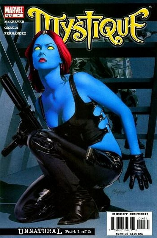 Cover of Mystique (Vol 1) #14. One of 250,000 Vintage American Comics on sale from Krypton!