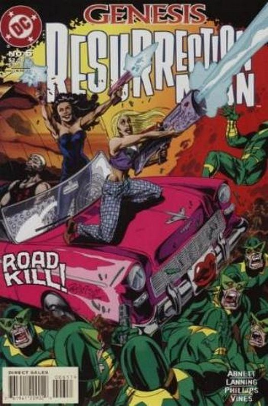 Cover of Resurrection Man (Vol 1) #6. One of 250,000 Vintage American Comics on sale from Krypton!
