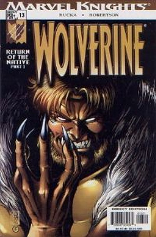 Cover of Wolverine (Vol 2) #13. One of 250,000 Vintage American Comics on sale from Krypton!