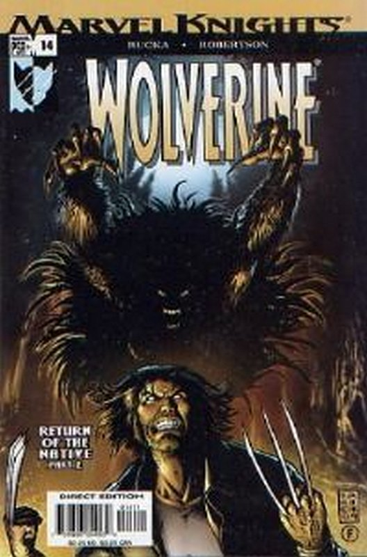 Cover of Wolverine (Vol 2) #14. One of 250,000 Vintage American Comics on sale from Krypton!