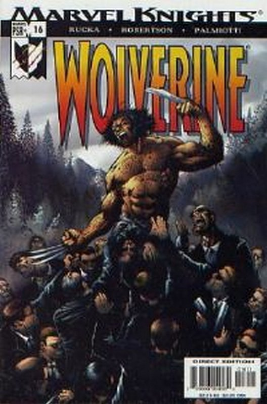 Cover of Wolverine (Vol 2) #16. One of 250,000 Vintage American Comics on sale from Krypton!
