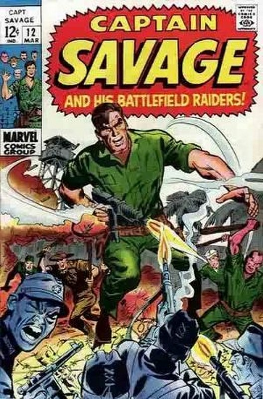 Cover of Captain Savage (Vol 1) #12. One of 250,000 Vintage American Comics on sale from Krypton!