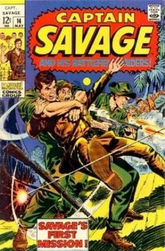 Cover of Captain Savage (Vol 1) #14. One of 250,000 Vintage American Comics on sale from Krypton!