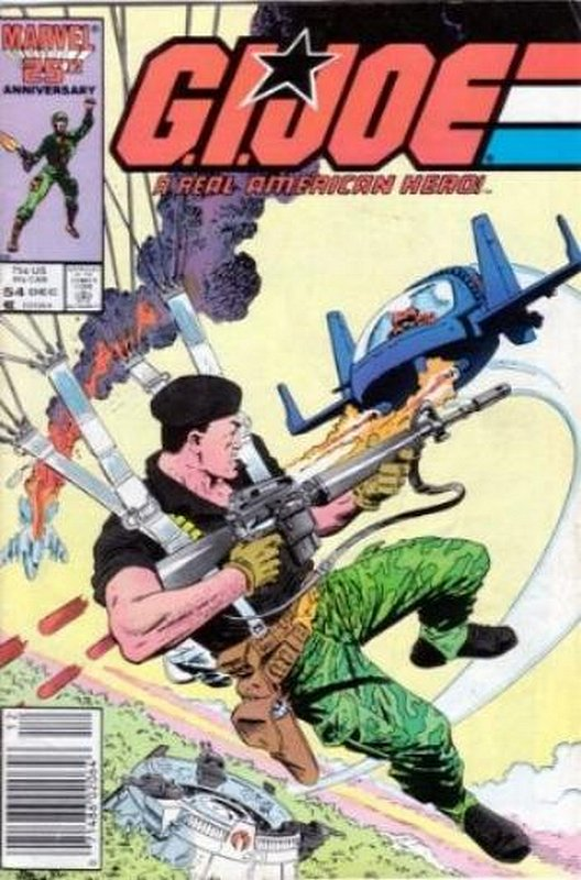 Cover of GI Joe: A Real American Hero #54. One of 250,000 Vintage American Comics on sale from Krypton!