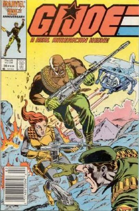 Cover of GI Joe: A Real American Hero #56. One of 250,000 Vintage American Comics on sale from Krypton!