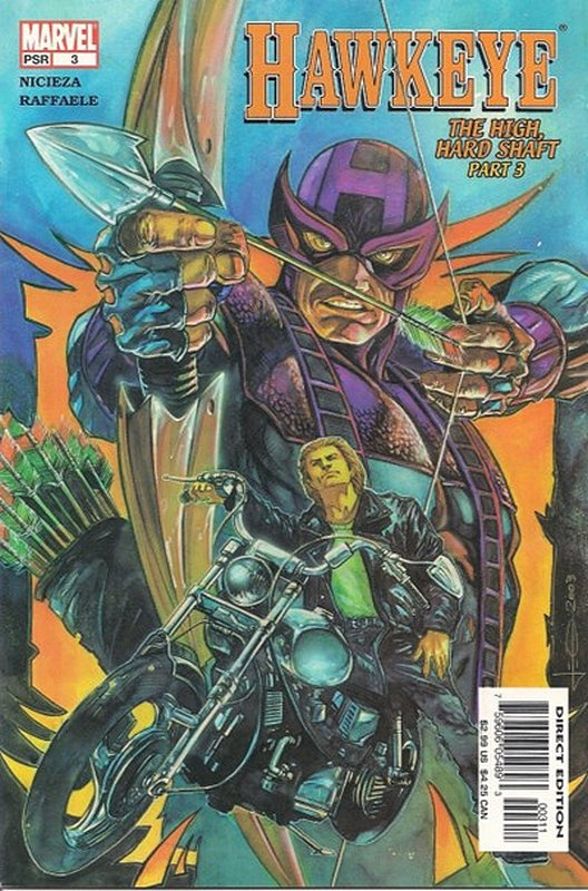 Cover of Hawkeye (Vol 1) #3. One of 250,000 Vintage American Comics on sale from Krypton!