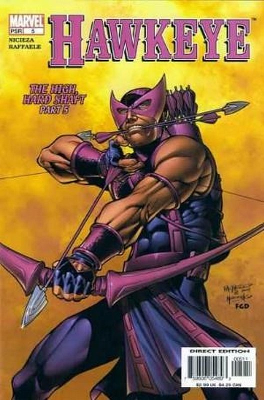 Cover of Hawkeye (Vol 1) #5. One of 250,000 Vintage American Comics on sale from Krypton!