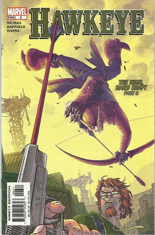 Cover of Hawkeye (Vol 1) #6. One of 250,000 Vintage American Comics on sale from Krypton!