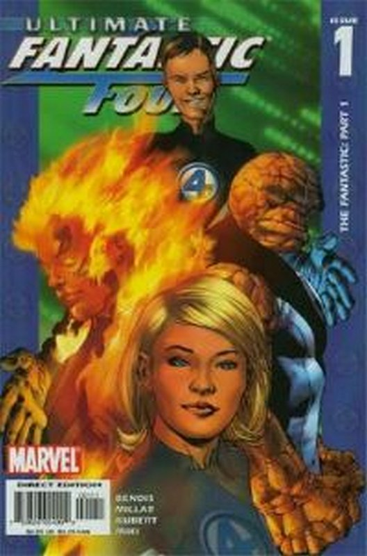 Cover of Ultimate Fantastic Four (Vol 1) #1. One of 250,000 Vintage American Comics on sale from Krypton!