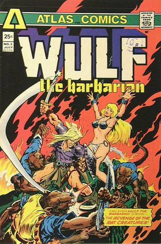 Cover of Wulf the Barbarian (Vol 1) #3. One of 250,000 Vintage American Comics on sale from Krypton!