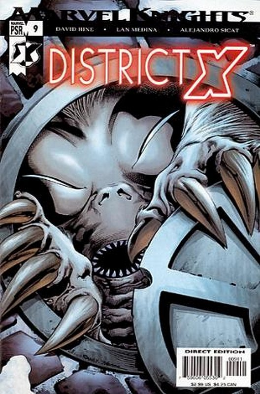 Cover of District X (Vol 1) #9. One of 250,000 Vintage American Comics on sale from Krypton!