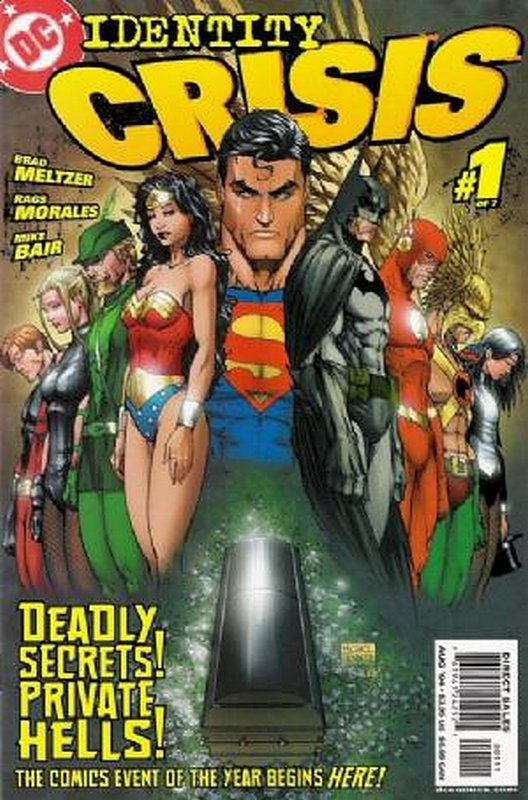 Cover of Identity Crisis (2004 Ltd) #1. One of 250,000 Vintage American Comics on sale from Krypton!