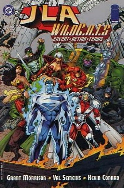 Cover of JLA/WildCATS (1997 One Shot) #1. One of 250,000 Vintage American Comics on sale from Krypton!