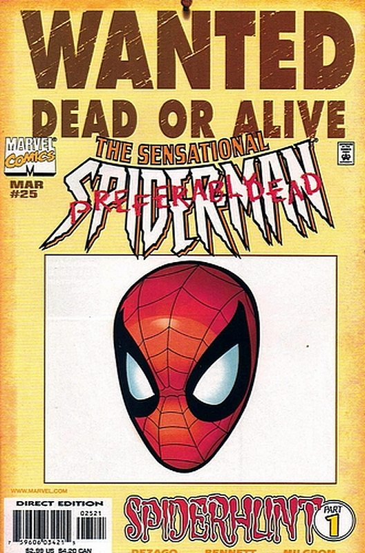 Cover of Sensational Spider-Man (Vol 1) #25. One of 250,000 Vintage American Comics on sale from Krypton!