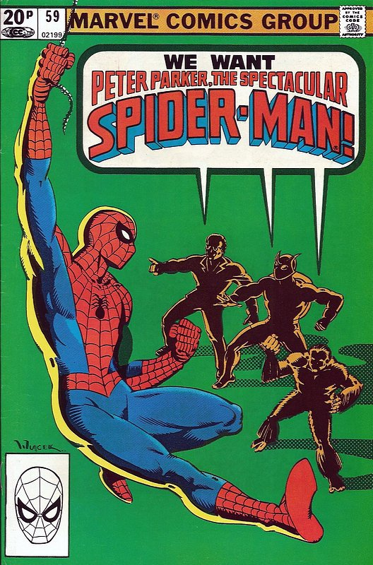 Cover of Spectacular Spider-Man (Vol 1) #59. One of 250,000 Vintage American Comics on sale from Krypton!