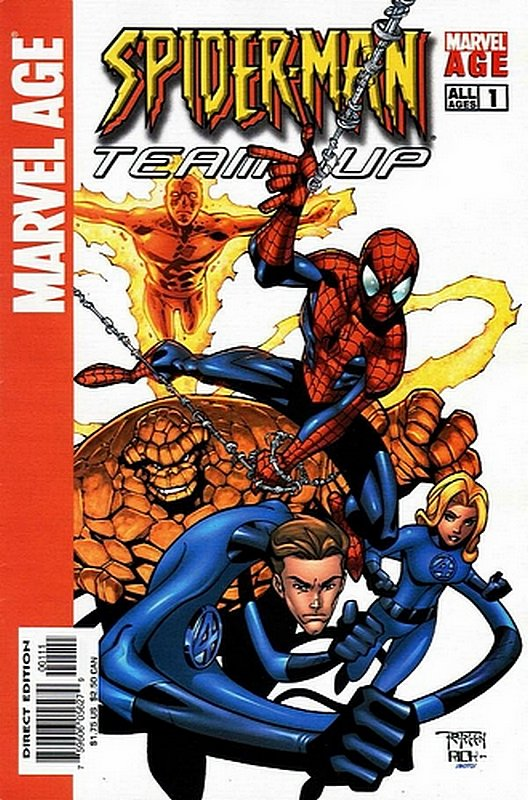 Cover of Marvel Age: Spider-Man Team-up (Vol 1) #1. One of 250,000 Vintage American Comics on sale from Krypton!