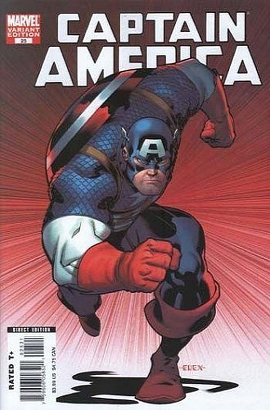 Cover of Captain America (Vol 5) #25. One of 250,000 Vintage American Comics on sale from Krypton!