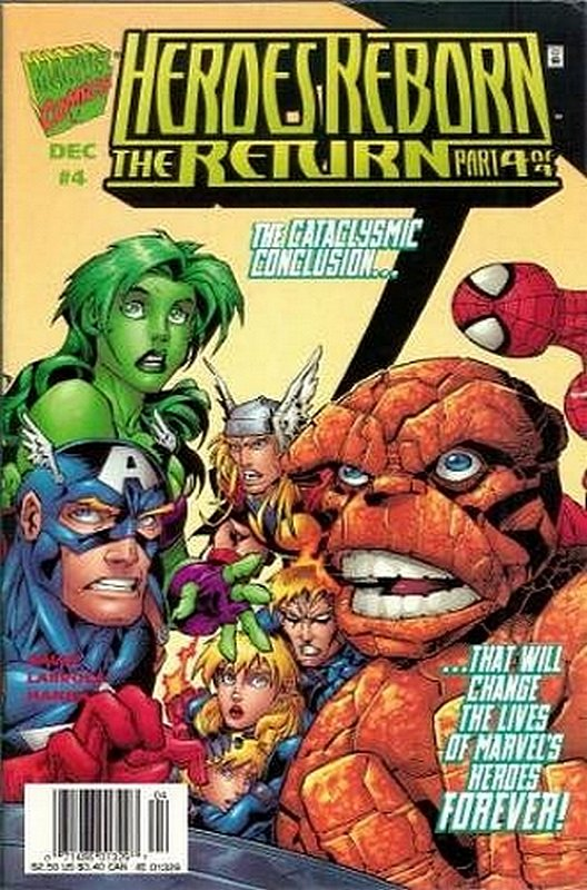 Cover of Heroes Reborn the return (1997 Ltd) #4. One of 250,000 Vintage American Comics on sale from Krypton!