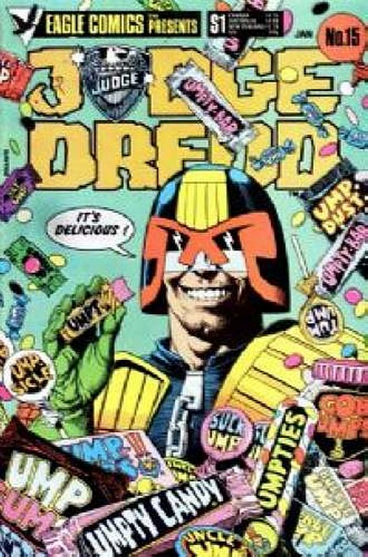 Cover of Judge Dredd (Eagle) (Vol 1) #15. One of 250,000 Vintage American Comics on sale from Krypton!