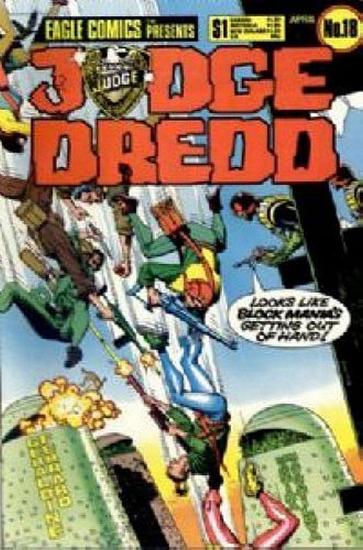Cover of Judge Dredd (Eagle) (Vol 1) #18. One of 250,000 Vintage American Comics on sale from Krypton!