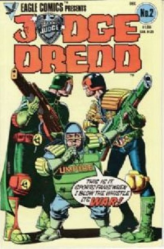 Cover of Judge Dredd (Eagle) (Vol 1) #2. One of 250,000 Vintage American Comics on sale from Krypton!