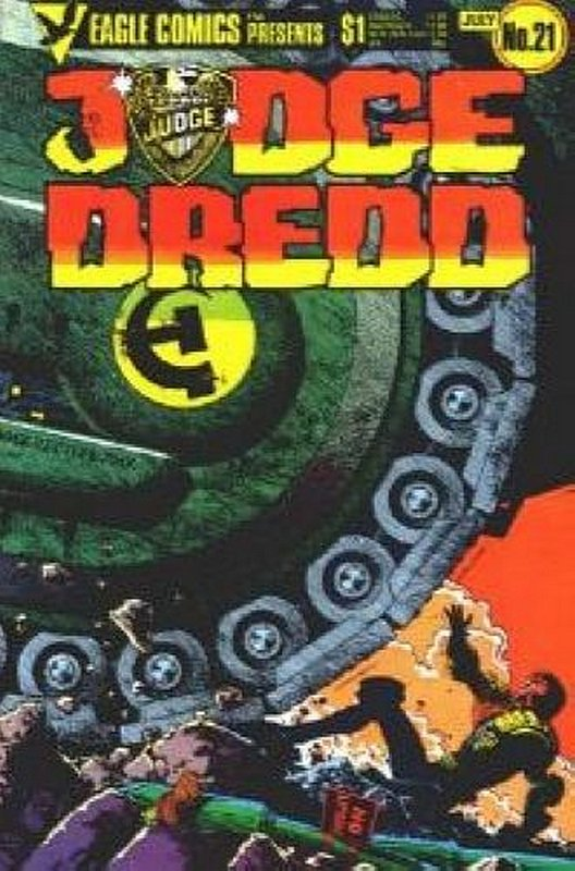 Cover of Judge Dredd (Eagle) (Vol 1) #21. One of 250,000 Vintage American Comics on sale from Krypton!