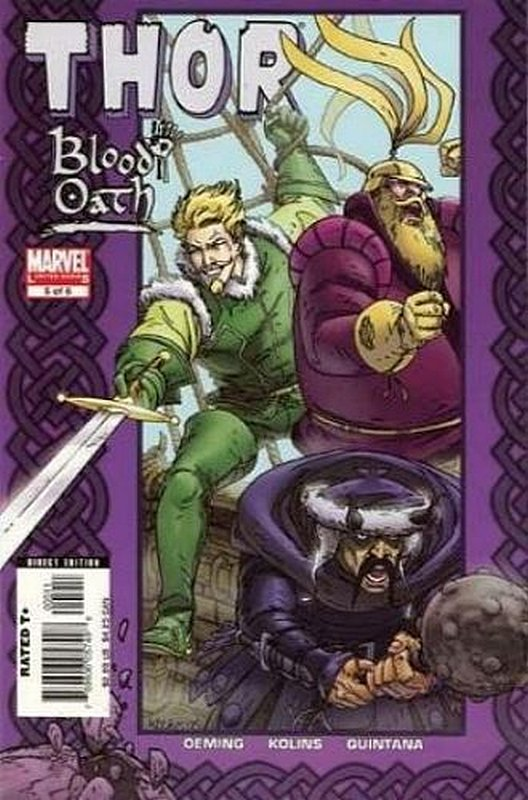Cover of Thor: Blood Oath (2005 Ltd) #5. One of 250,000 Vintage American Comics on sale from Krypton!