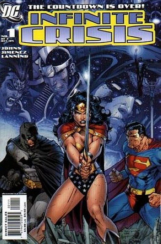 Cover of Infinite Crisis (2005 Ltd) #1. One of 250,000 Vintage American Comics on sale from Krypton!