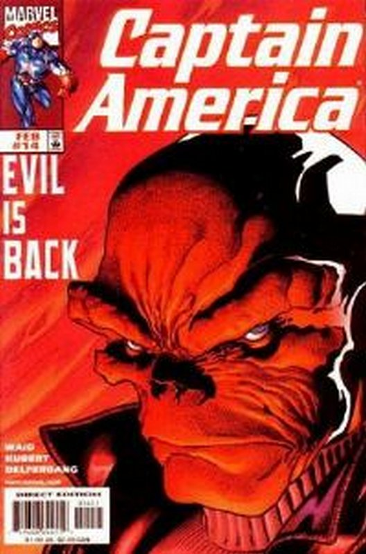 Cover of Captain America (Vol 3) #14. One of 250,000 Vintage American Comics on sale from Krypton!