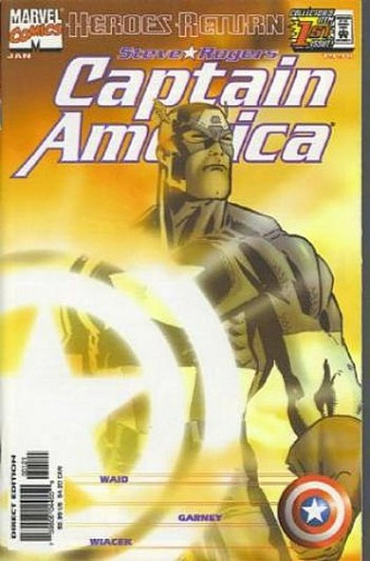 Cover of Captain America (Vol 3) #1. One of 250,000 Vintage American Comics on sale from Krypton!