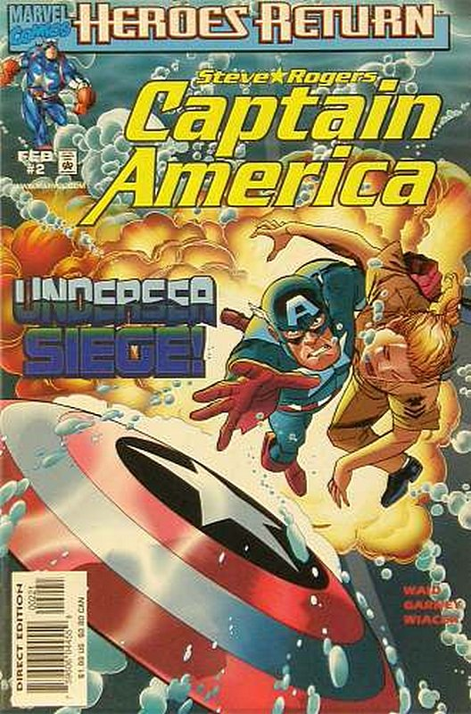 Cover of Captain America (Vol 3) #2. One of 250,000 Vintage American Comics on sale from Krypton!