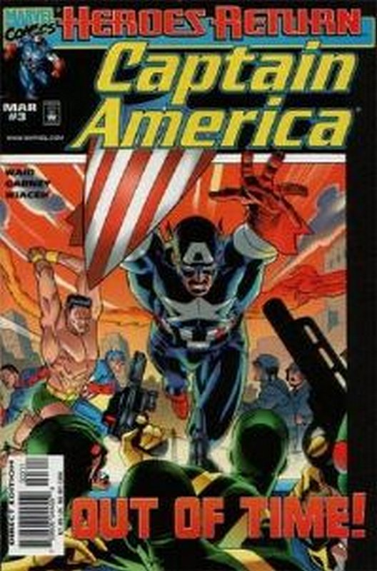 Cover of Captain America (Vol 3) #3. One of 250,000 Vintage American Comics on sale from Krypton!