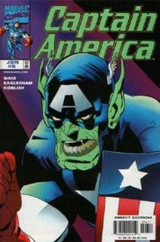 Cover of Captain America (Vol 3) #6. One of 250,000 Vintage American Comics on sale from Krypton!